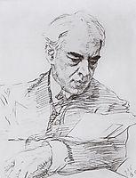Portrait of Konstantin Stanislavski, 1908, serov