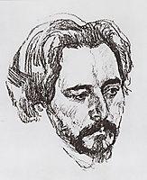 Portrait of L.N. Andreev, 1907, serov