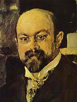 Portrait of Mikhail Abramovich Morozov (detail), 1902, serov
