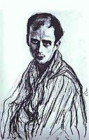Portrait of Mikhail Fokin, 1909, serov