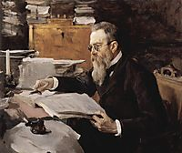 Portrait of Nikolai Andreyevich Rimsky-Korsakov , 1898, serov