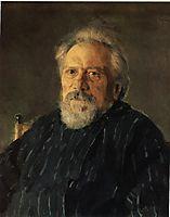 Portrait of Nikolay Leskov , 1891, serov
