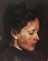 Portrait of Olga Serova, 1890, serov