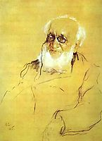 Portrait of P. Semenov-Tien-Shansky, 1905, serov
