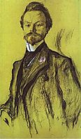 Portrait of the Poet Konstantin Balmont, 1905, serov