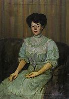 Portrait of Praskovia Tchaokovskaia, 1892, serov