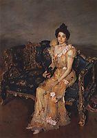 Portrait of Sofia Mikhailovna Botkina , 1899, serov