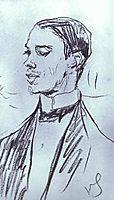 Portrait of Vazlav Nizhinsky, 1910, serov