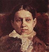 Portrait of Vera Repina, 1881, serov
