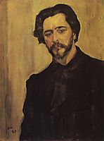 Portrait of the Writer Leonid Andreev, 1907, serov