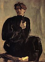 Portrait of the Writer Maxim Gorky, 1905, serov