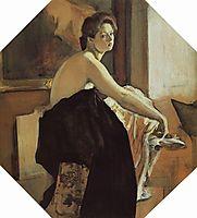 Portrait of Yelena Oliv, 1905, serov