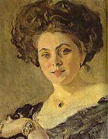 Portrait of Yevdokia Morozova (detail), 1908, serov