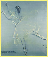 Poster for the -Saison Russe- at the Theatre du Chatelet , 1909, serov