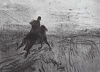 Pushkin in the village, 1899, serov
