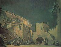 Set design for the Opera , 1907, serov