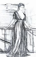 Sketch for a portrait of P.I. Scherbatova, 1911, serov