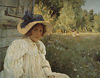 Summertime. Portrait of Olga Serova, 1895, serov