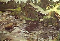 Watermill in Finland, 1902, serov