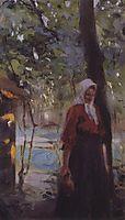 A woman with a jug, serov
