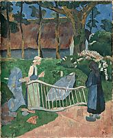 The flowered barrier, 1889, serusier