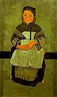Little Breton Girl Seated (Portrait of Marie Francisaille), c.1895, serusier