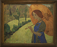 Madame Serusier with a Parasol, 1912, serusier
