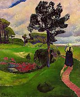 Mother and Child on a Breton Landscape, 1890, serusier
