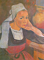 Portrait of Marie Lagadu, 1889, serusier