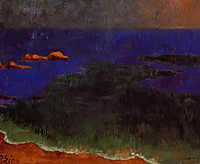 The Seat at Poldu Sunset, c.1889, serusier