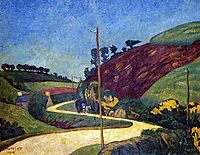 The Stagecoach Road in the Country with a Cart, 1903, serusier