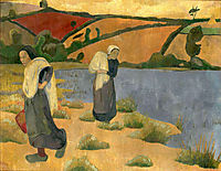 Washerwomen at the Laita River, near Pouldu, 1892, serusier