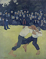 The Wrestling Bretons, 1893, serusier