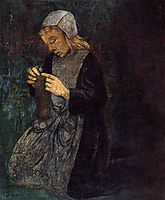 Young Breton (The Little Knitter), c.1896, serusier