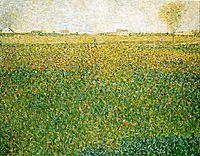 Alfalfa, La Lucerne, Saint-Denis, 1885-86, seurat