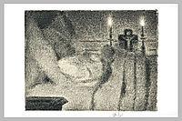 Anaïs Faivre Haumonté on her deathbed, 1887, seurat