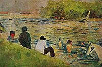 The Bank of the Seine, 1884, seurat