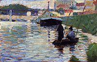 The Bridge - View of the Seine, 1883, seurat