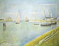 The Channel at Gravelines, in the Direction of the Sea, 1890, seurat