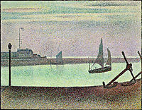 The Channel of Gravelines, Evening, 1890, seurat
