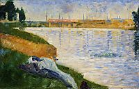 Clothes on the Grass, 1883, seurat