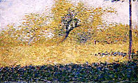 Edge of Wood, Springtime, 1883, seurat