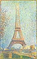 The Eiffel Tower, 1889, seurat