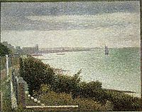 The English Channel at Grandcamp, 1885, seurat