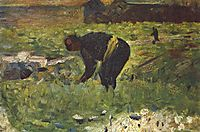 Farmer to work, 1883, seurat