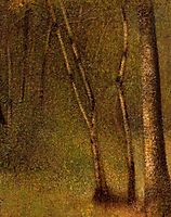 The Forest at Pontaubert, seurat