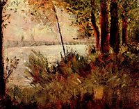 Grassy Riverbank, 1881, seurat