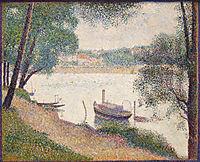 Gray Weather, La Grande Jatte, 1888, seurat