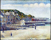 The Harbour and the Quays at Port-en-Bessin, 1888, seurat