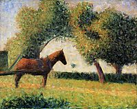 Horse in a Field, 1882, seurat
